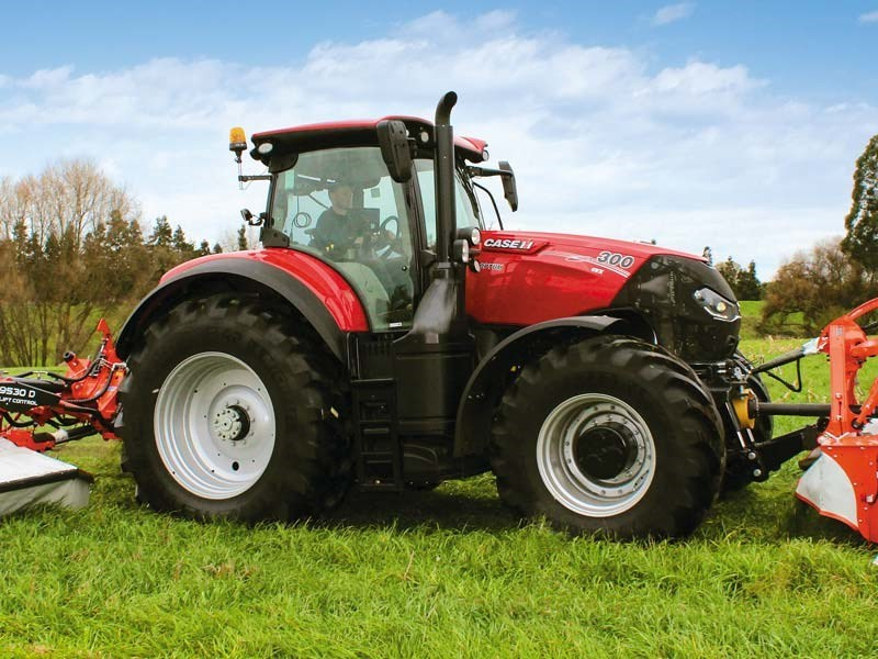 The Case IH Optum CVT 300 tractor performs well for a high horse power tractor.