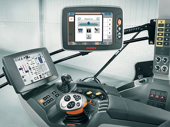 Claas S10 terminal in tractor cab