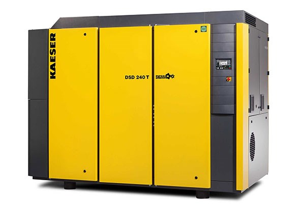 The Kaeser DSD240 T compressor with integrated refrigeration dryer