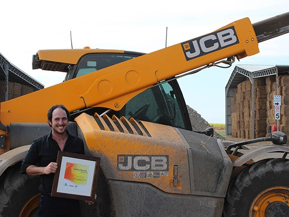 Rocky Point Mulching operations manager Josh Keith and a JCB telehandler