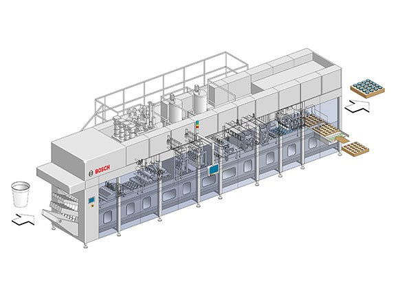 Bosch Ampack FCL aseptic linear cup filler
