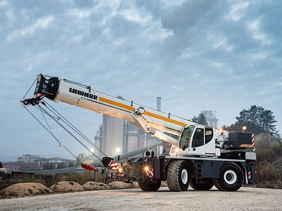 The new Liebherr rough-terrain LRT 1090-2.1 crane
