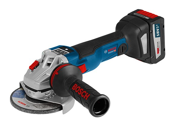 bosch blue gws 18v 125 sc angle grinder connects to your phone. Black Bedroom Furniture Sets. Home Design Ideas