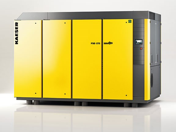 One of the new Kaeser FSD rotary screw compressors