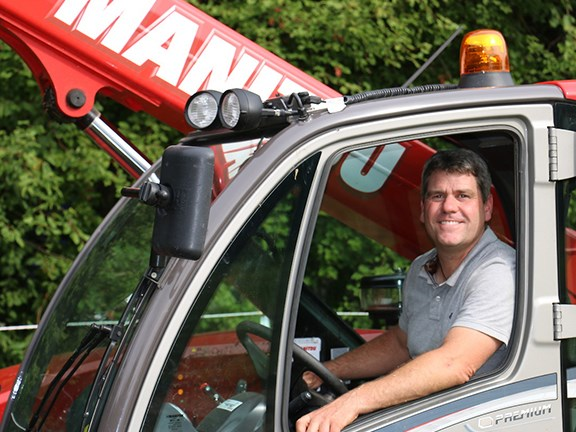 Bernd Hackl in the Manitou's cab
