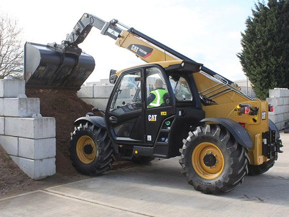 The new Cat TH3510D telehandler.