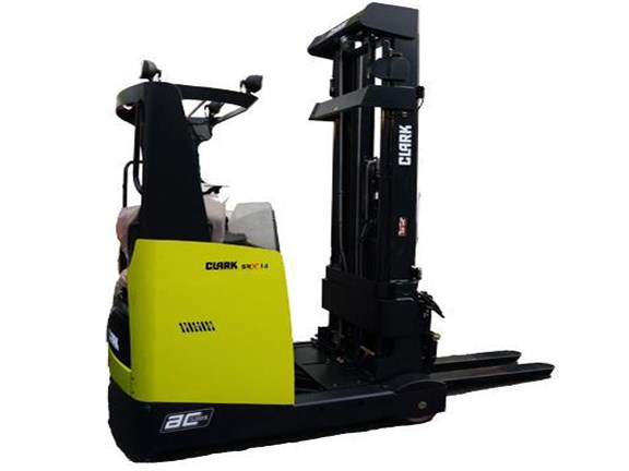 Clark has launched a new 14-16 series of SRX reach truck forklifts.