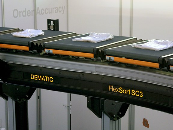 The Dematic FlexSort SC3 crossbelt sorter will be part of the Kathmandu system.