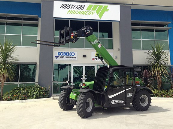 A Faresin telehandler at the Brisvegas Machinery office.