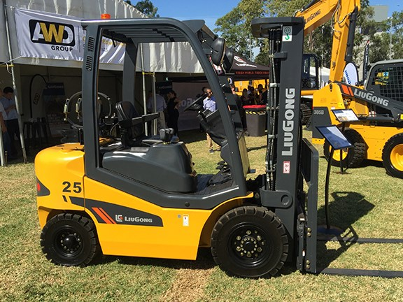 The 2025H forklift makes up part of the LiuGong range launched by AWD Group.