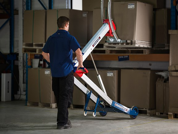 The Makinex powered hand truck can be fitted with a range of attachments
