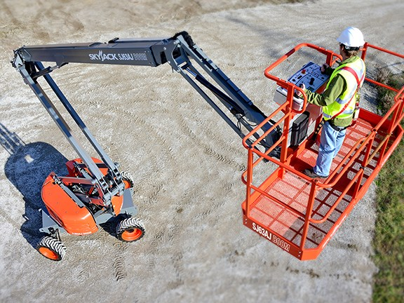 The Skyreach KB63D articulating boom lift