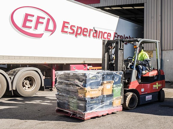 One of Esperance Freight Lines' Toyota 8FG25 forklifts