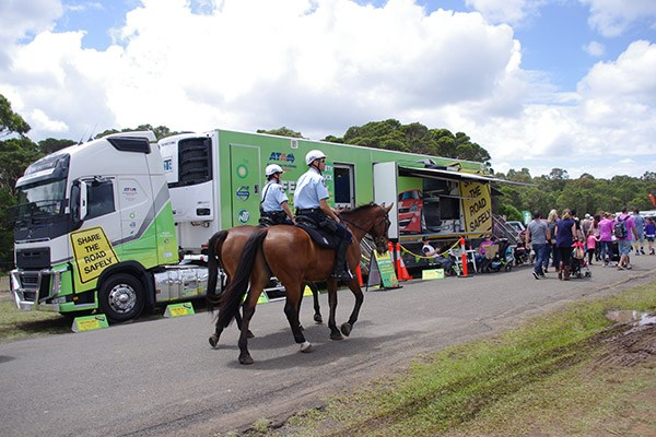 The Australian Trucking Association's Safety Truck boasted more horsepower than these steeds.
