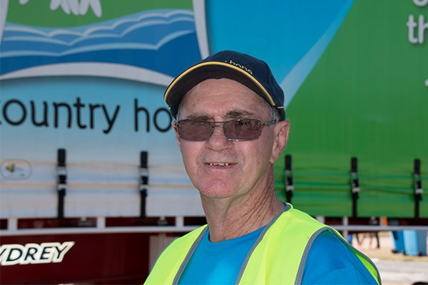Volunteer John Oswald organised the truck show.