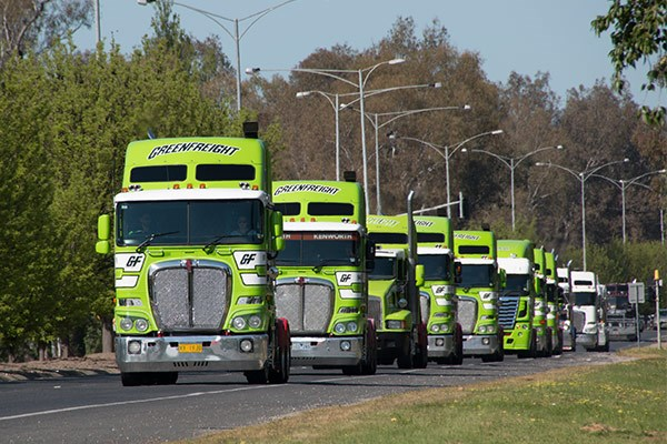 Greenfreight had nine trucks in the convoy.