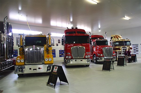 Inside the Kenworth Hall of Fame.
