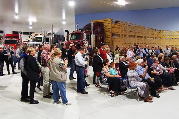 The opening night of the new extension to the Kenworth pavilion.