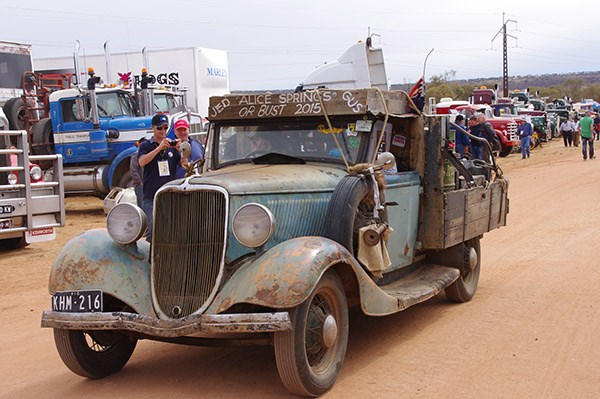 Jed Hayback and Gus Bradley drove Jed's restored 1933 Fordute from Rushworth in Victoria.