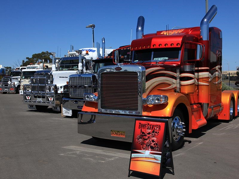 Nathan Godfrey Haulage's Peterbilt 'Bone Shaker' was the winner of the Show 'n Shine.