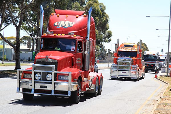 CMV's Kenworth led the convoy.