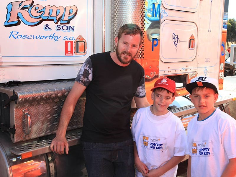 From left: Ben Kemp with Novita ambassador Alastair and brother Ashton.