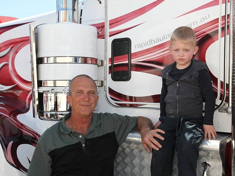 Brian Thompson with his grandson Lincoln Wallington.