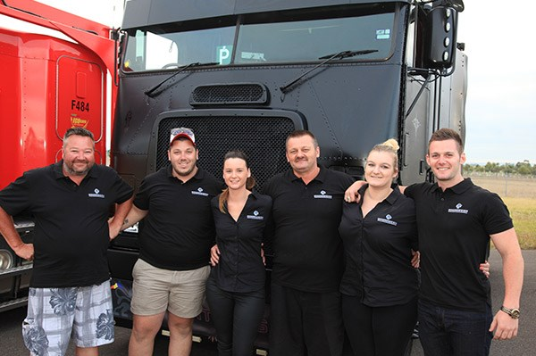 The StanTrans & Son crew, from left, Scott Thompson, Jayden Bowden, Samantha Bacon, John Stan, Adriana Stan and Will Stan.