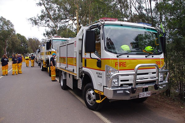 A big turnout from the firies.