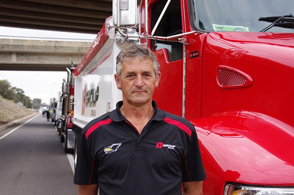 Dan Rodovanivic drove a Kenworth T359 for D Group.