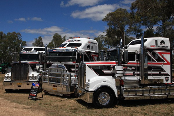 Semi Trailer Sales had three Kenworths on show.