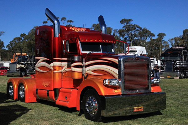 NGH Express's Peterbilt won Best Custom.