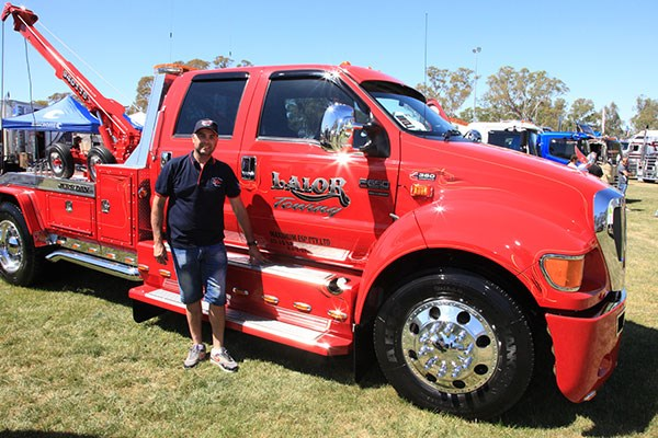 Michael Donimos's Lalor Towing Ford F650.