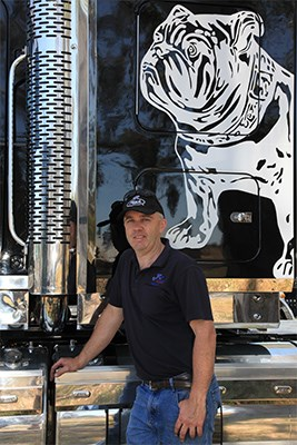 Matt Kane and his black Mack Superliner.
