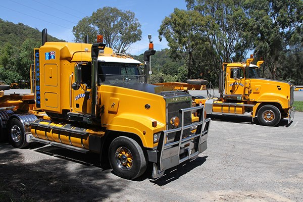 Big lifters: Mack Titans, used for all heavy haulage work.
