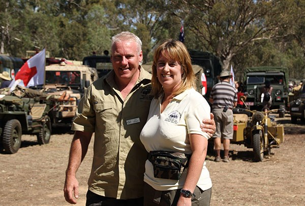 Troy Creamer and KVE secretary Jan Thompson plan to marry in Corowa at next year's event.
