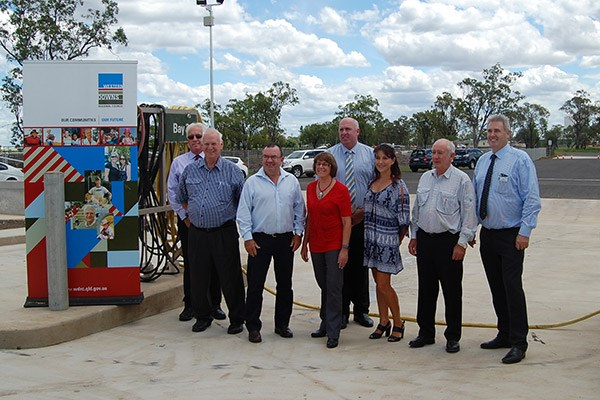 Western Downs Regional Council mayor Ray Brown and councillors at the opening.