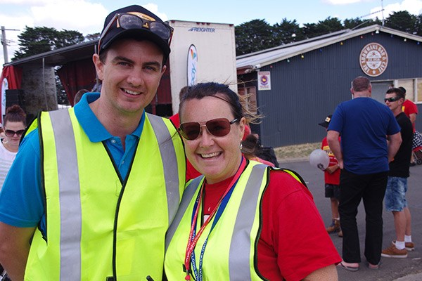 Camp Quality's Lee Emberton and Jo McKeown.