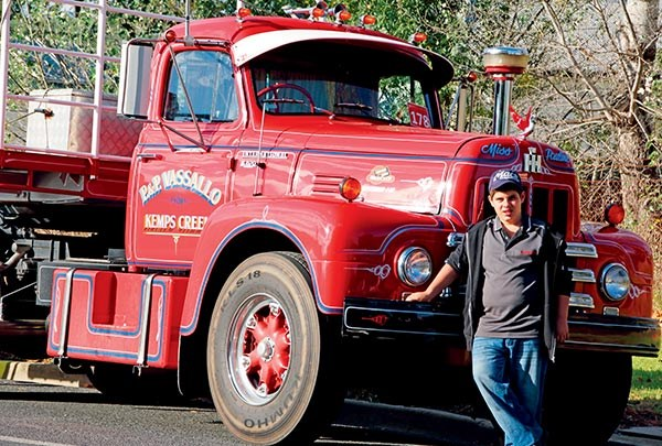 Nick Vassallo with the International R200 restored by his father Patrick Vassallo.