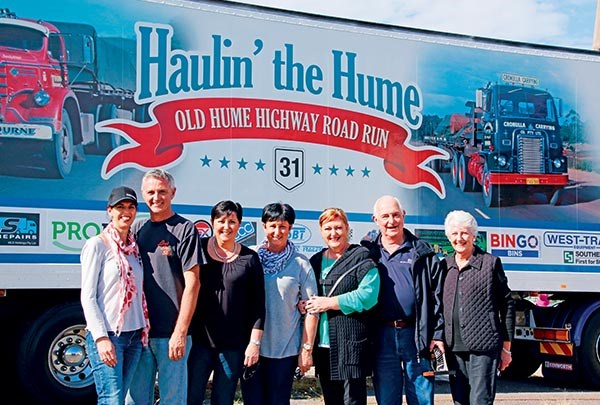 The Gunter family enjoying Haulin' the Hume, from left, Rachel and Bruce Gunter; Liz Segreto; Alison Fonti; Jan Liddell; and Geoff and Judy Gunter.