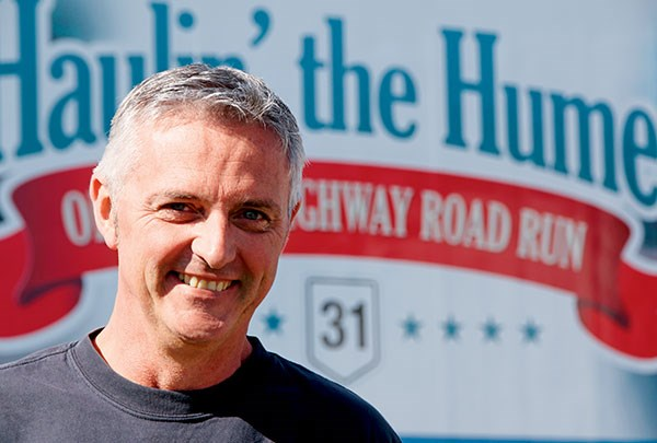 Bruce Gunter instigated the first Haulin' the Hume in 2011, and continues to lead the organising committee.