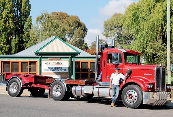 Jeff Cozens with his 1974 Kenworth S2 was once part of the Eastoes' fleet.