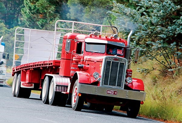 Rob French's 1964 Peterbilt near Mittagong.