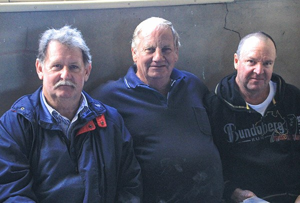 From left, Ray Lidgard of Moss Vale, Geoff Gilbyof Marulan and Gary Browne of Wagga Wagga.