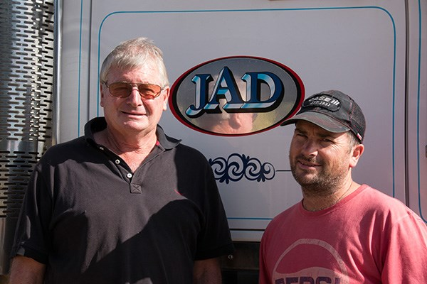 John and Damien Doyle are back at work in Oaklands after the hay run to Ilfracombe.