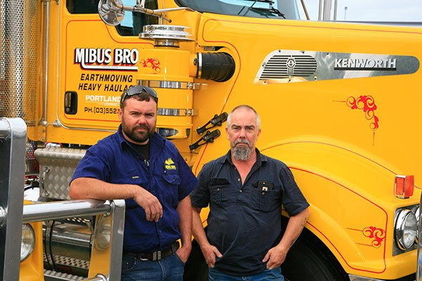 Mibus Brothers' drivers Dave Clark (left) and Mark Showler.