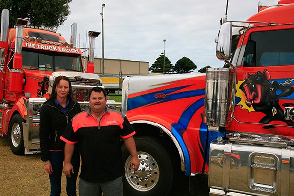 Adelaide's The Truck Factory brought over two tow trucks — a Western Star and a Peterbilt — for the show.