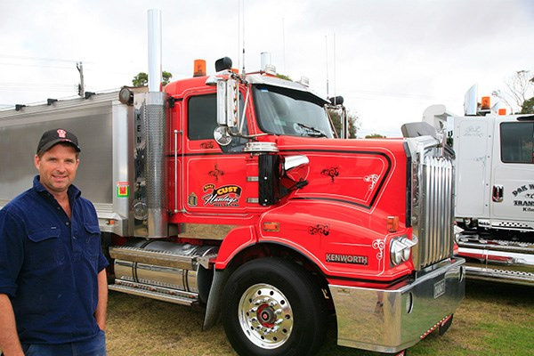 Ben Cust from Warrnambool brought his 10-year-old Kenworth T404 to Koroit.