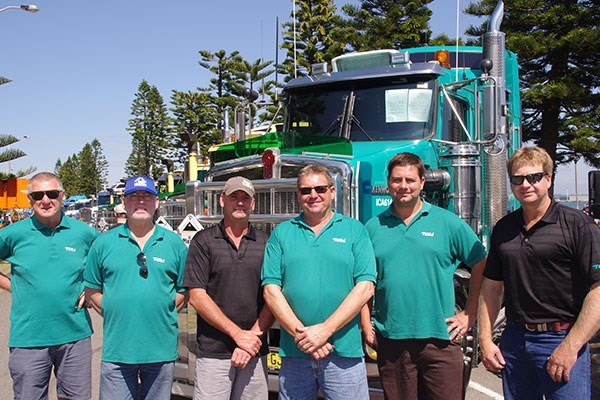 Toll drivers, from left: Joe, Rob, Trevor, Snow, Dave and Jason.