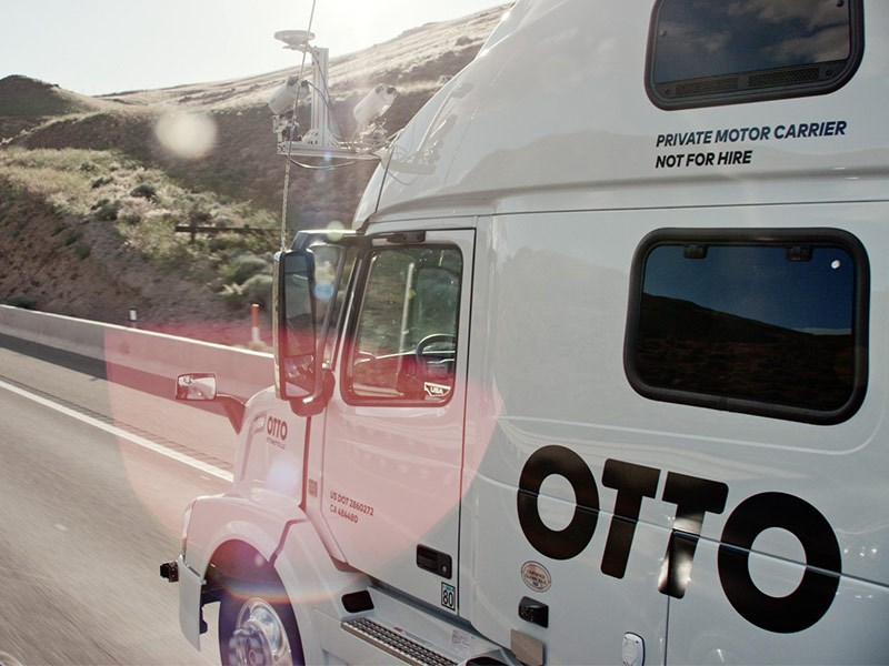 Otto autonomous self driving truck TradeTrucks